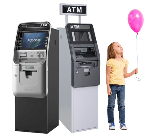 Both ATMs plus girl balloon for new slider
